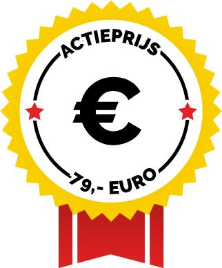 Vaste prijs van 79,- euro ex BTW voor het eerste half uur